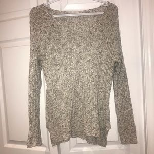 Garage Grey and White Oversized Knit Sweater